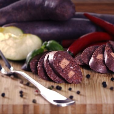 Blood sausage with buckwheat